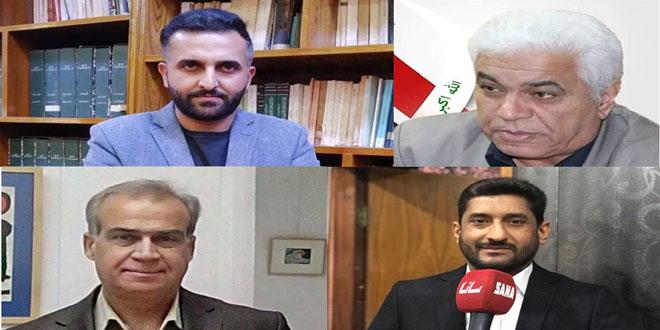 أدباء وكتاب عراقيون يستنكرون الإجراءات الأمريكية القسرية ضد سورية