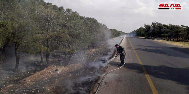 إخماد أربعة حرائق في مناطق مختلفة بحمص