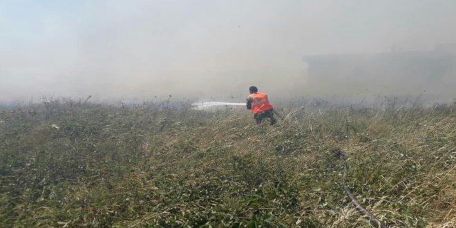 إخماد حرائق عدة بحمص وريفها