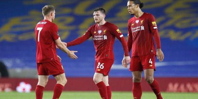 ليفربول يتغلب على برايتون بثلاثية في الدوري الإنكليزي