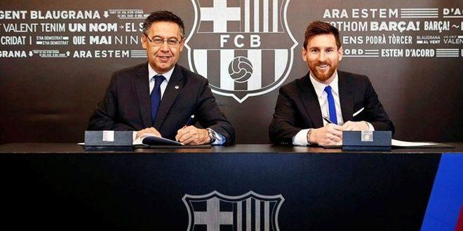 رئيس برشلونة يؤكد بقاء ميسي في صفوف النادي