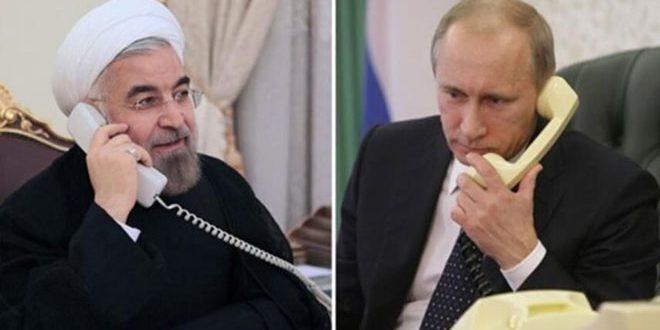 روحاني لـ بوتين: استمرار التعاون ضمن صيغة أستانا لحل الأزمة في سورية
