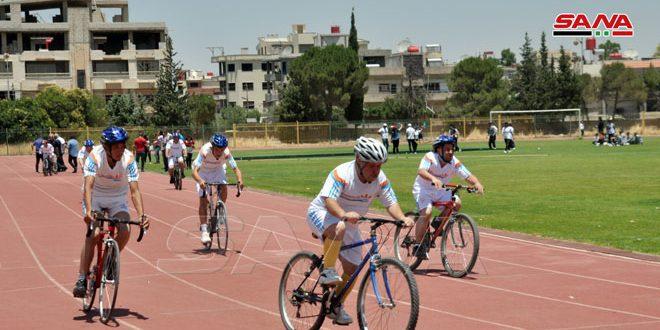 فعاليات متنوعة ضمن اليوم الرياضي للأولمبياد الخاص السوري بالسويداء