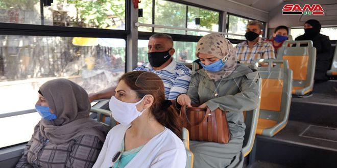 سانا ترصد مدى الالتزام بارتداء الكمامة ضمن وسائل النقل الجماعي