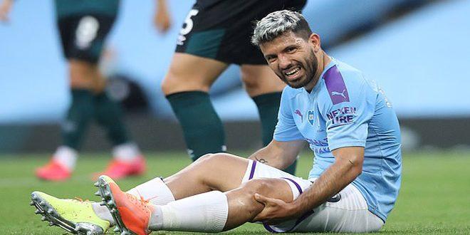 أغويرو يغيب عن مواجهة ليون بسبب الإصابة