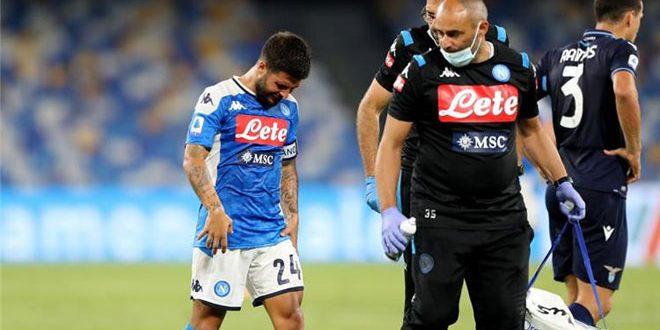 نابولي يؤكد إصابة إنسيني قبل مواجهة برشلونة