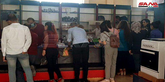 تحسن واقع المبيعات في صالات السورية للتجارة بالسويداء