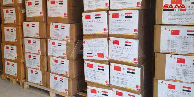 الصحة تتسلم دفعة جديدة من المساعدات الطبية الصينية لمواجهة كورونا-فيديو