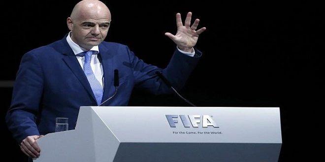رئيس الفيفا يعرب عن قلقه بشأن فرص إقامة كأس العالم في ظل جائحة كورونا