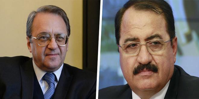 بوغدانوف وحداد يبحثان تطورات الأوضاع في سورية