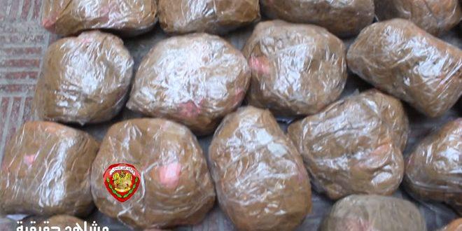 القبض على شخصين من مروجي المخدرات ومصادرة 19 كغ من الحشيش المخدر