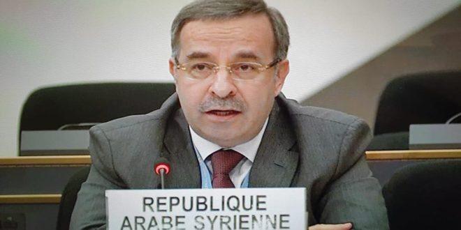 سورية تجدد دعمها رئيس بيلاروس وتنتقد استغلال مجلس حقوق الإنسان للتدخل في الشؤون الداخلية للدول