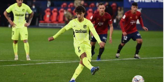 أتلتيكو مدريد يهزم أوساسونا في الدوري الإسباني