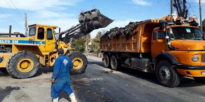 البدء بترحيل النفايات من مكب القمامة بدوما وتأهيل المركز الطبي في الشيفونية بريف دمشق