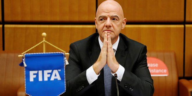 إصابة رئيس الاتحاد الدولي لكرة القدم بفيروس كورونا