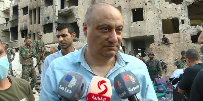 (لآخر العمر) يواصل عمليات التصوير.. الوزير سارة: الإعلام السوري الذي وقف إلى جانب جيشه يستحق أن يخلد بعمل سينمائي- فيديو