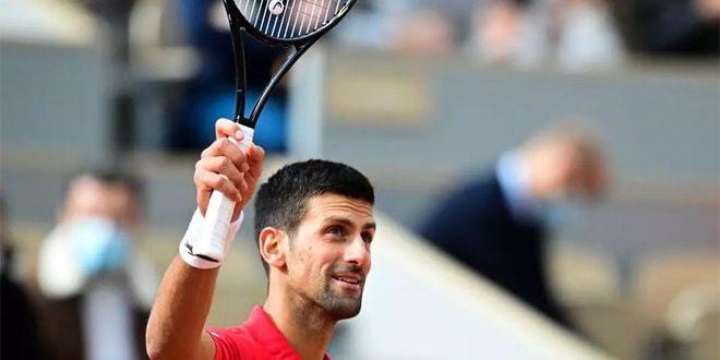 الصربي ديوكوفيتش يبلغ الدور الثالث في بطولة فرنسا المفتوحة للتنس