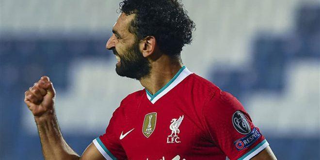 محمد صلاح يتوج بجائزة أفضل هدف لليفربول الشهر الماضي