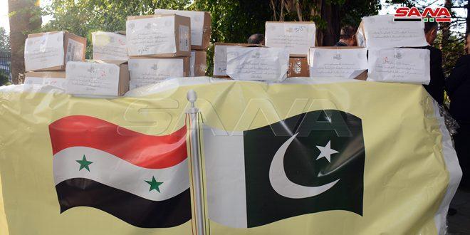 سفير باكستان بدمشق يسلم محافظة اللاذقية هدية لدعم المتضررين من الحرائق