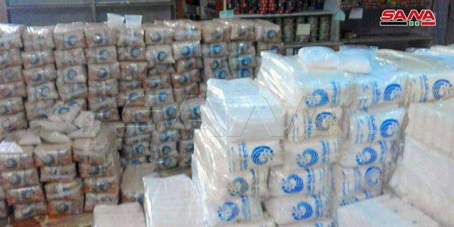 السورية للتجارة تستنفر فروعها وصالاتها لتوزيع مخصصات المواطنين من السكر والأرز قبل نهاية هذا الشهر