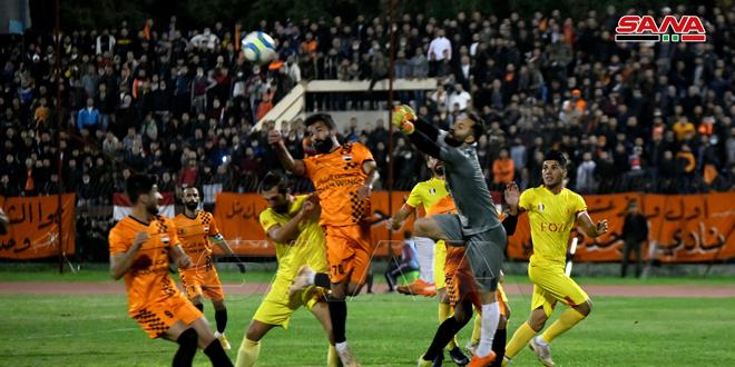 الوحدة يفوز على تشرين في ختام الجولة الخامسة من الدوري الممتاز لكرة القدم