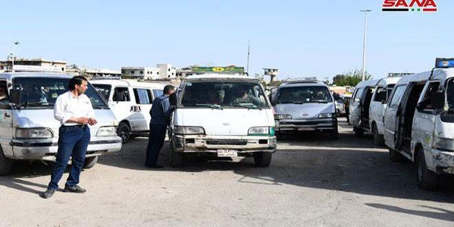 تنظيم 10 ضبوط بحق سائقي سرافيس وصاحب خزان مازوت في مركز نهر عيشة بدمشق