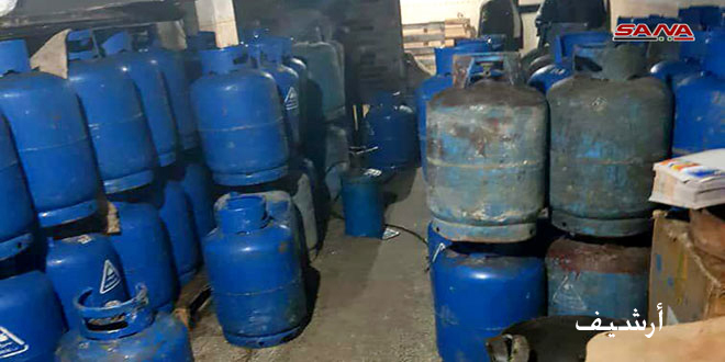 توقيف شخصين لاتجارهما بمادة الغاز المدعومة