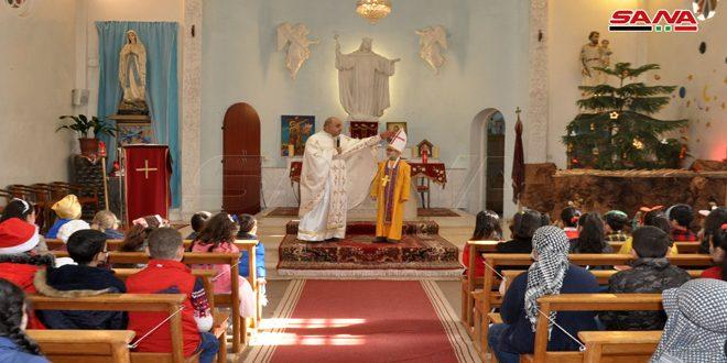 صلوات وقداديس واحتفالات بعيد القديسة بربارة في عدد من الكنائس بالسويداء