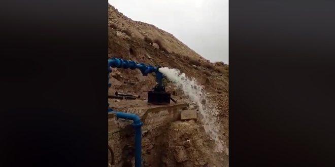 بئر مياه جديدة بالخدمة في ضاحية الأسد بريف دمشق واثنتان قيد الانتهاء
