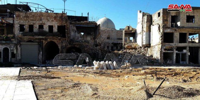 بتكلفة 200 مليون ليرة سورية… إعادة تأهيل ساحة الحطب في حلب القديمة