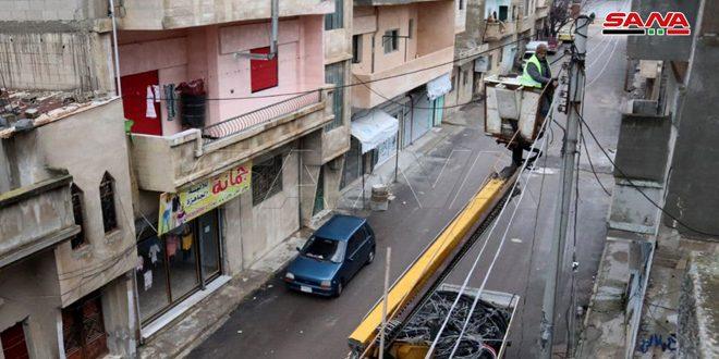كهرباء حمص إصلاح 38 مركز تحويل خلال أسبوع