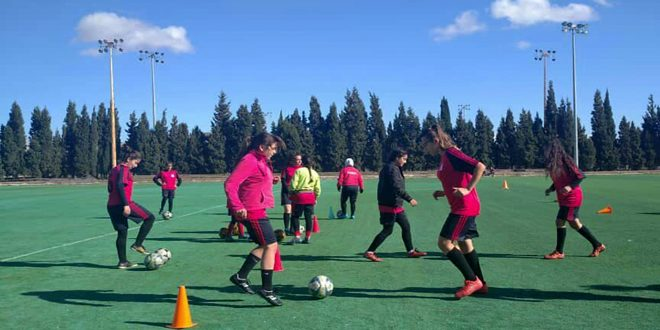 فريق محافظة حمص لكرة القدم للسيدات يستعد لإياب الدوري