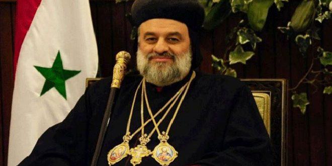 البطريرك أفرام الثاني يطالب في رسالة لبايدن بإلغاء الإجراءات القسرية المفروضة على سورية