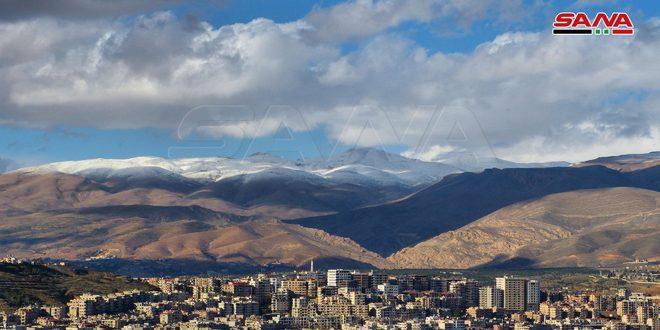 الحرارة إلى انخفاض وثلوج على المناطق الشمالية والمرتفعات الجبلية التي تزيد على 1000 متر