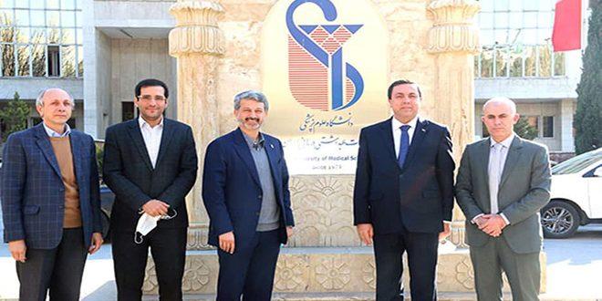 بحث سبل تعزيز التعاون بين المراكز الطبية والعلاجية في سورية وإيران