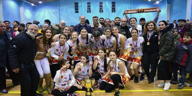 الوحدة يحرز لقب بطولة كأس الاتحاد لكرة السلة للناشئات