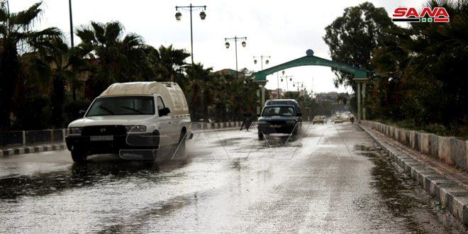 أمطار متفاوتة الغزارة أعلاها 26 مم في إزرع بدرعا