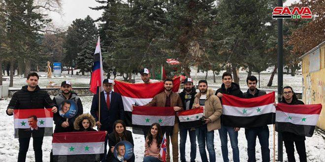 الطلبة السوريون في سلوفاكيا بذكرى 8 آذار يجددون وقوفهم إلى جانب وطنهم في تصديه للمؤامرات والإرهاب