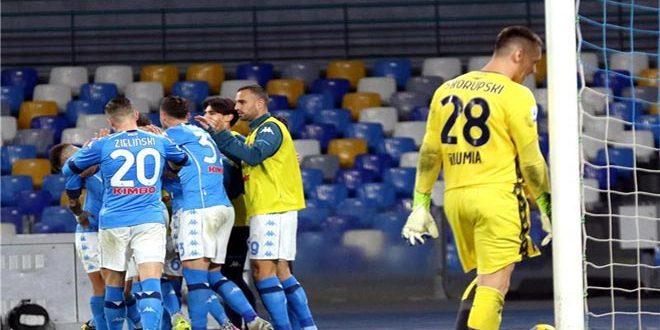 نابولي يتغلب على بولونيا بثلاثية في الدوري الإيطالي لكرة القدم