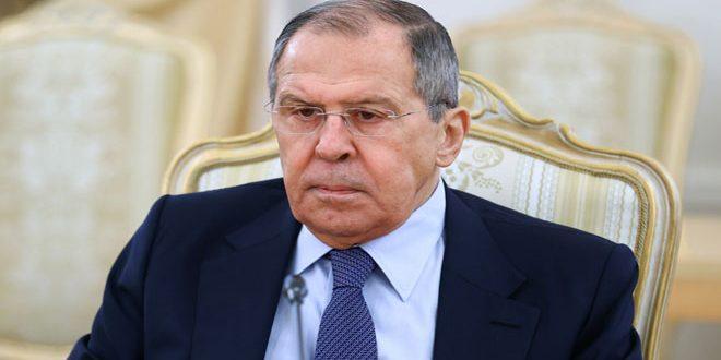 لافروف: مقاربات روسية لإيجاد تسوية للأزمة في سورية تستند إلى القانون الدولي واحترام وحدة سورية وسيادتها وسلامة أراضيها