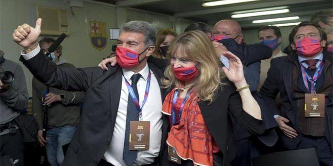 لابورتا رئيساً لنادي برشلونة