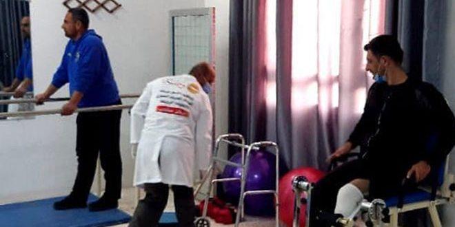 افتتاح مركز للمعالجة الفيزيائية في سلحب بريف حماة دعماً لجرحى الجيش العربي السوري