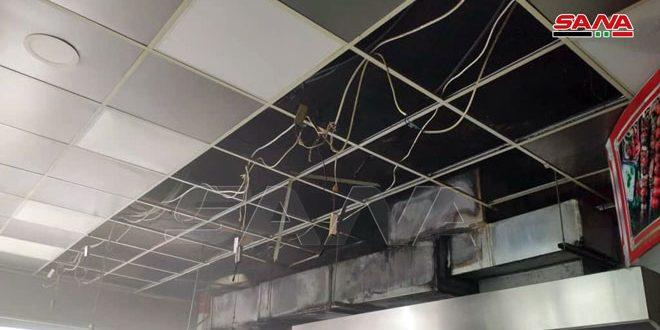 اندلاع حريق في أحد مطاعم مدينة درعا جراء ماس كهربائي