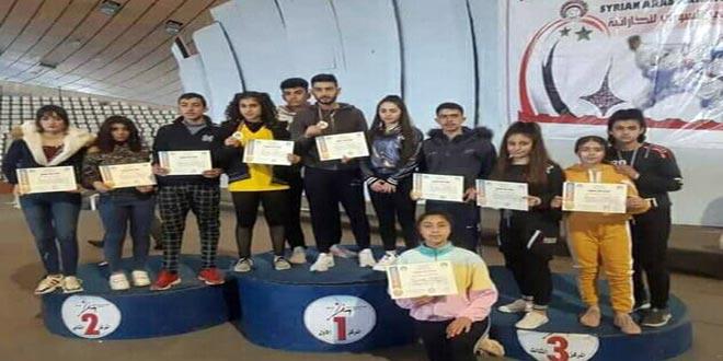 42 ميدالية متنوعة للسويداء في بطولة دوري الشباب الأول للأندية بالكاراتيه