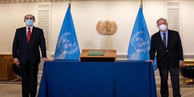 خلال استقباله السفير صباغ.. غوتيريش يؤكد الالتزام القوي بالتعاون مع الحكومة السورية