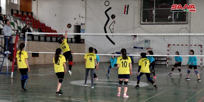 فوز العربي على دير علي في دوري كرة الطائرة للسيدات