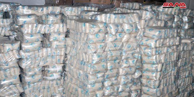 استجرار 40 طناً من مادة الرز المدعوم لبيعها عبر البطاقة الالكترونية في السويداء