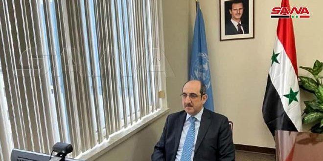 صباغ: مشروع القرار الفرنسي الغربي المقدم إلى مؤتمر منظمة الحظر سابقة خطيرة ويهدف إلى خلق ذرائع لارتكاب أعمال عدوانية ضد سورية