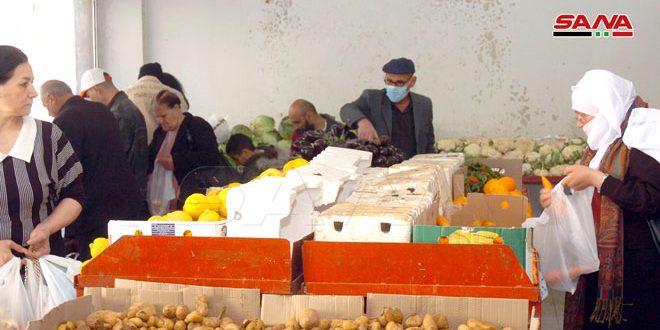السورية للتجارة بالسويداء تستجر 7 أطنان من الخضار وتطرحها بأسعار مخفضة عن السوق