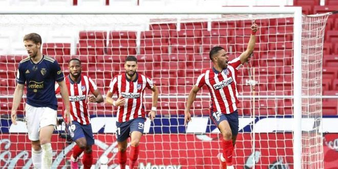أتلتيكو مدريد يفوز على اوساسونا في الدوري الإسباني